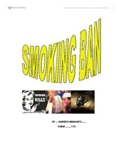 Thesis statement about secondhand smoke